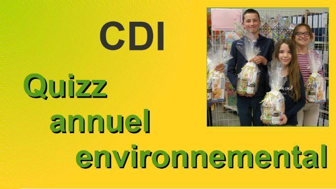 Le thème de l'année au CDI – Bravo aux gagnants !