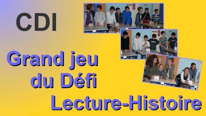 Défi Lecture-Histoire 6C, D, E